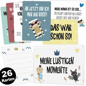 26 lustige Babykarten für Junge und Mädchen