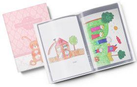 Sammelmappe Meine Kindergartenzeit rosa Hase Geschenkidee Kindergeburtstag (10/20 Hüllen A4)