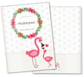 Mutterpasshülle / Mutter-Kind-Pass Hülle 3-teilig Mommy Love Daisy