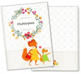 Mutterpasshülle / Mutter-Kind-Pass Hülle 3-teilig Mommy Love Butterfly