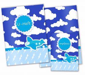 U-Heft Hülle SET Wolken Flugzeug