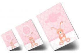 """Geschenkset rosa Little Lady Hase """"Meine Kindergartenzeit"""" Geschenkidee zur Geburt"""