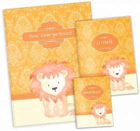 """Geschenkset Afrika Safari Löwe """"Meine Kindergartenzeit"""" Geschenkidee zur Geburt"""
