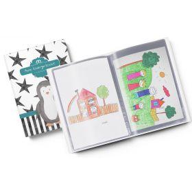 Sammelmappe Meine Kindergartenzeit Creative Royal Pinguin Geschenkidee Kindergeburtstag (10/20 Hüllen A4)