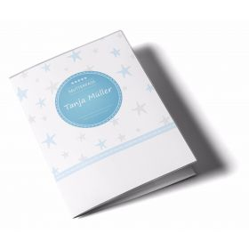 Mutterpasshülle / Mutter-Kind-Pass Hülle 3-teilig Sterne Rosa Blau