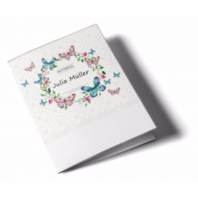 Mutterpasshülle / Mutter-Kind-Pass Hülle 3-teilig Blumenkranz