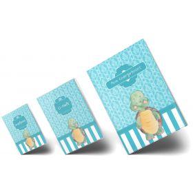 """Geschenkset Blue Nature Schildkröte """"Meine Kindergartenzeit"""" Geschenkidee zur Geburt"""