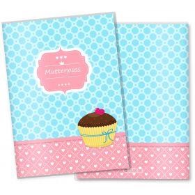Mutterpasshülle 3-teilig Cupcakes (Motiv: Schoko Kuss, ohne Personalisierung)