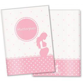 Mutterpasshülle 3-teilig rosa Herzchen