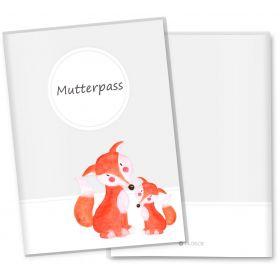 Mutterpasshülle 3-teilig Waldtiere (Fuchs)