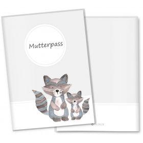 Mutterpasshülle 3-teilig Waldtiere (Waschbär)