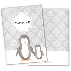 Mutterpasshülle 3-teilig Motiv Black & White (Pinguin ohne Personalisierung)