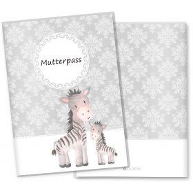 Mutterpasshülle 3-teilig Motiv Black & White (Zebra ohne Personalisierung)