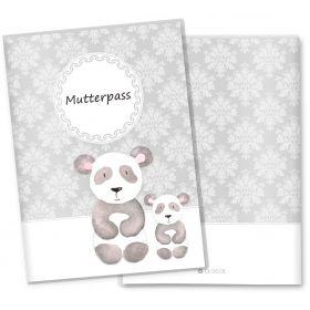 Mutterpasshülle 3-teilig Motiv Black & White (Panda ohne Personalisierung)
