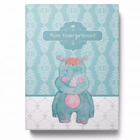 Sammelmappe Meine Kindergartenzeit Nashorn Geschenkidee Kindergeburtstag (10 Hüllen/20 Seiten A4)
