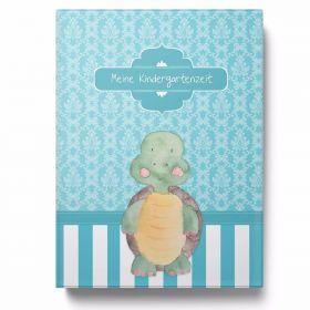 Sammelmappe Meine Kindergartenzeit niedliche Schildkröte Geschenkidee Kindergeburtstag (10 Hüllen/20 Seiten A4)