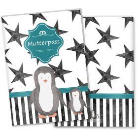 Mutterpasshülle 3-teilig Creative Royal (Pinguin, ohne Personalisierung)
