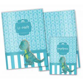 U-Heft Hülle SET Blue Nature (Dino, ohne Personalisierung)
