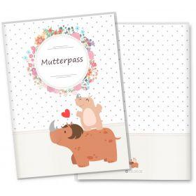 Mutterpasshülle 3-teilig Mommy Love Dots (Nashorn, ohne Personalisierung)