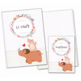 U-Heft Hülle SET Mommy Love Dots (Nashorn, Ohne Personalisierung)