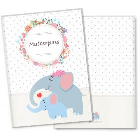 Mutterpasshülle / Mutter-Kind-Pass Hülle 3-teilig Mommy Love Dots