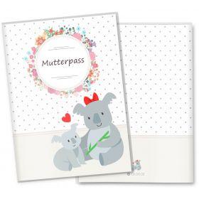 Mutterpasshülle 3-teilig Mommy Love Dots (Koala, ohne Personalisierung)
