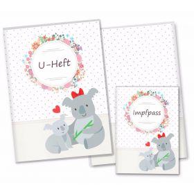 U-Heft Hülle SET Mommy Love Dots (Koala, Ohne Personalisierung)