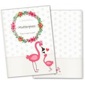 Mutterpasshülle 3-teilig Mommy Love Daisy (Flamingo, ohne Personalisierung)