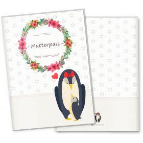 Mutterpasshülle 3-teilig Mommy Love Daisy (Pinguin, ohne Personalisierung)