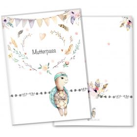 Mutterpasshülle 3-teilig Boho Freunde (Schildkröte, ohne Personalisierung)