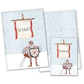 U-Heft Hülle SET Ritter und Drachen (Ritter Ludwig, ohne Personalisierung)