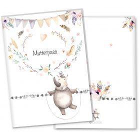 Mutterpasshülle 3-teilig Boho Freunde (Nashorn, ohne Personalisierung)