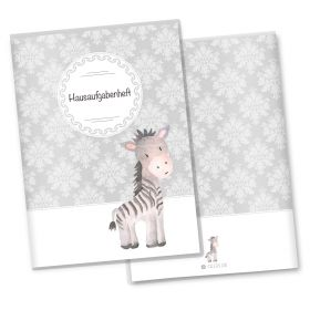 Hausaufgabenheft Hülle Black & White (Zebra, ohne Personalisierung)