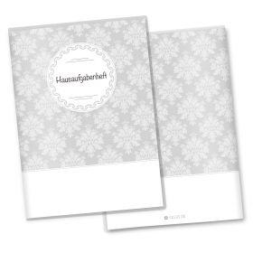 Hausaufgabenheft Hülle Black & White (ohne Motiv, ohne Personalisierung)