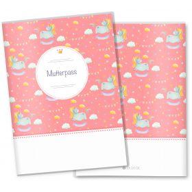 Mutterpasshülle 3-teilig Unicorn Dreams (Pink, ohne Personalisierung)