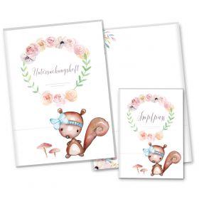 U-Heft Hülle SET Cute Boho (Eichhörnchen, ohne Personalisierung)