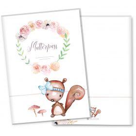 Mutterpasshülle 3-teilig Cute Boho (Eichhörnchen, ohne Personalisierung)