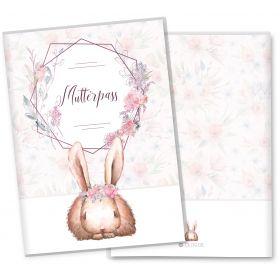 Mutterpasshülle 3-teilig Cute Bunny Hase (Vega, ohne Personalisierung)