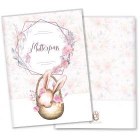Mutterpasshülle 3-teilig Cute Bunny Hase (Fiona, ohne Personalisierung)