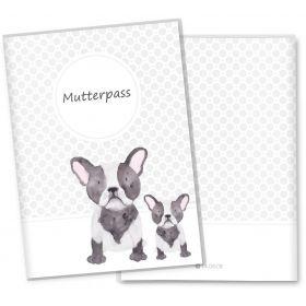 Mutterpasshülle 3-teilig Haustiere (Bulldog)