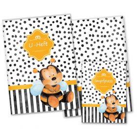 U-Heft Hülle SET Creative Royal (Biene, ohne Personalisierung)