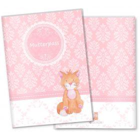 Mutterpasshülle 3-teilig rosa Little Lady (Katze, ohne Personalisierung)