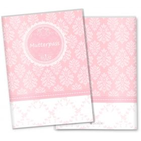 Mutterpasshülle 3-teilig rosa Little Lady (ohne Motiv, ohne Personalisierung)