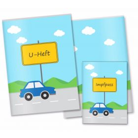 U-Heft Hülle SET Auto Jungen (Auto, ohne Personalisierung)