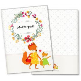 Mutterpasshülle 3-teilig Mommy Love Butterfly (Fuchs, ohne Personalisierung)