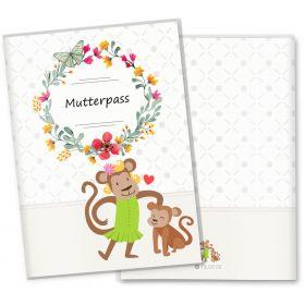 Mutterpasshülle 3-teilig Mommy Love Butterfly (Affe, ohne Personalisierung)