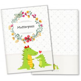 Mutterpasshülle 3-teilig Mommy Love Butterfly (Krokodil, ohne Personalisierung)