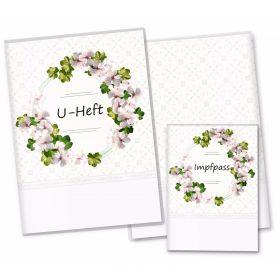 U-Heft Hülle SET Blumenkranz (Magnolia, ohne Personalisierung)