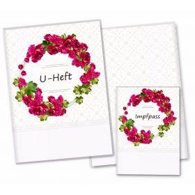 U-Heft Hülle SET Blumenkranz (Begonia, ohne Personalisierung)