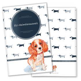 Heimtierausweis Hülle für den Hund Taksa (Cavalier King Charles Spaniel, ohne Personalisierung)